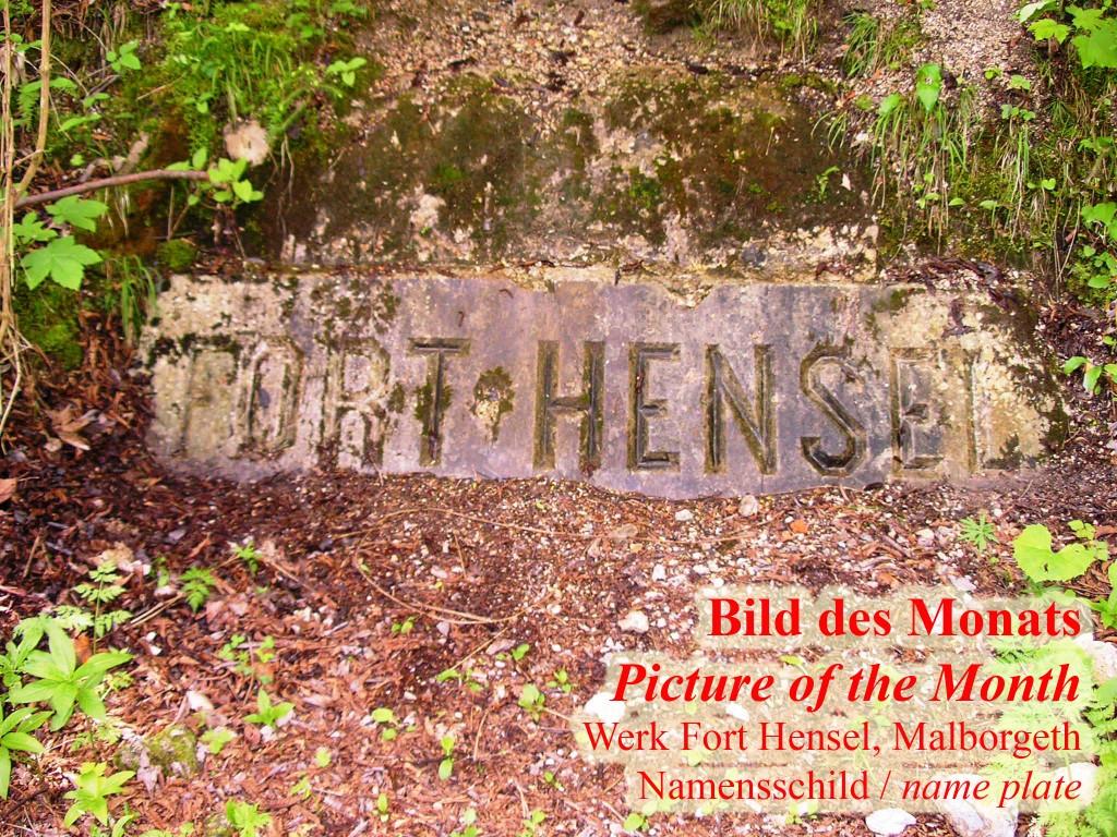 Werk Fort Hensel Malborgeth Namensschild des Werkes