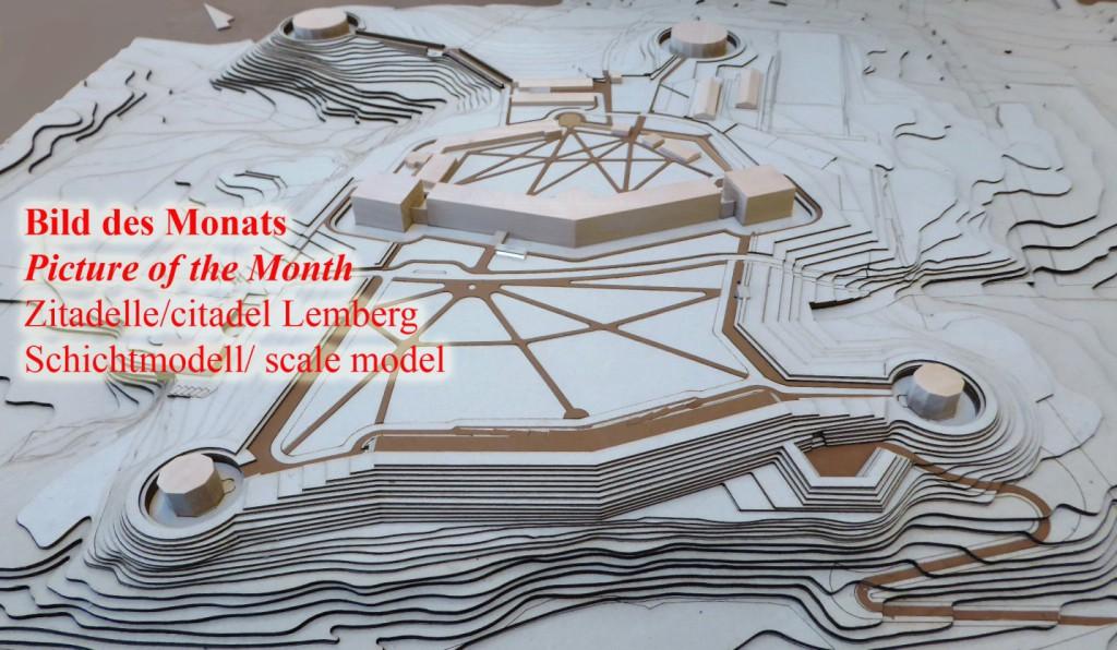 Zitadelle Lemberg Lwiw Schichtmodell scale model
